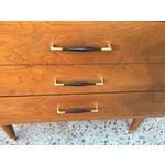Image of Mid-Century Modern Three Drawer Walnut Dresser