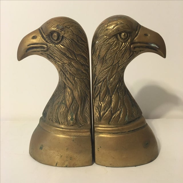 Brass Eagle Bookends - A Pair - Image 2 of 6