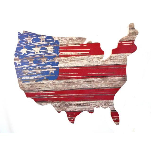 Rustic Wood American Flag Wall Art