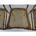 Image of Italian Faux Bamboo Gold Dining Chairs - S/4