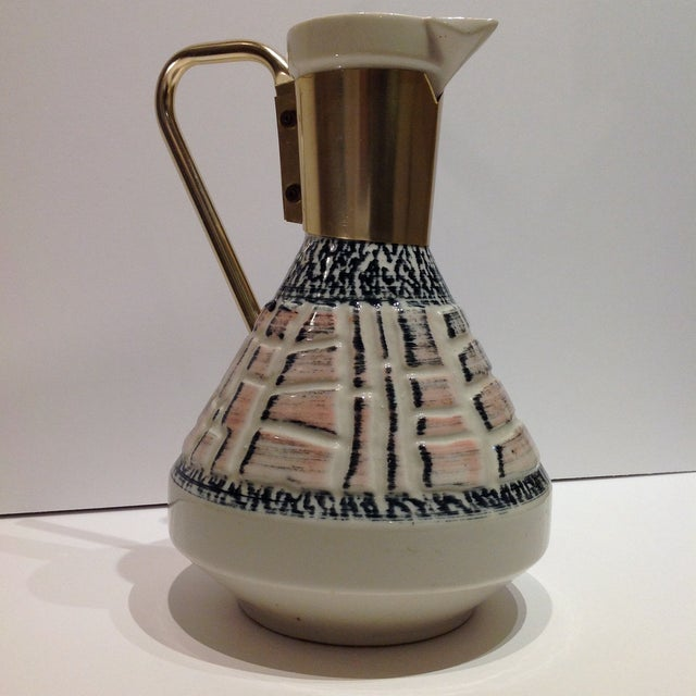 Image of Mid-Century Pottery Pitcher