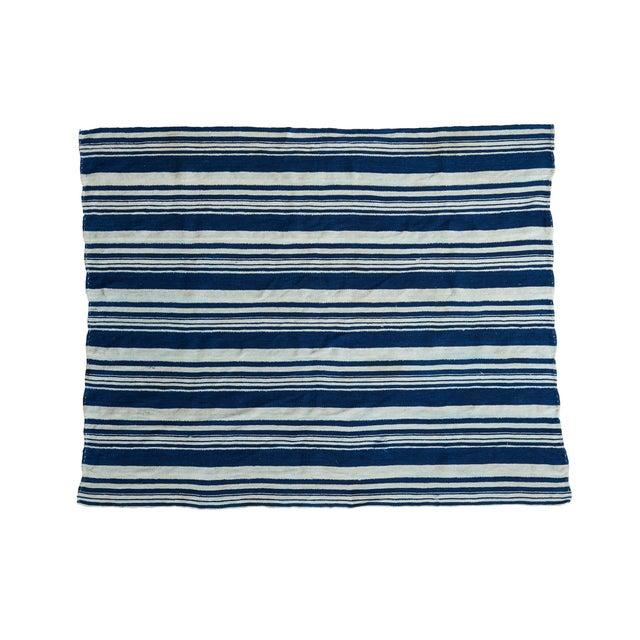 Vintage Indigo Stripe Throw - Image 1 of 7