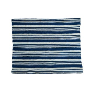 Vintage Indigo Stripe Throw