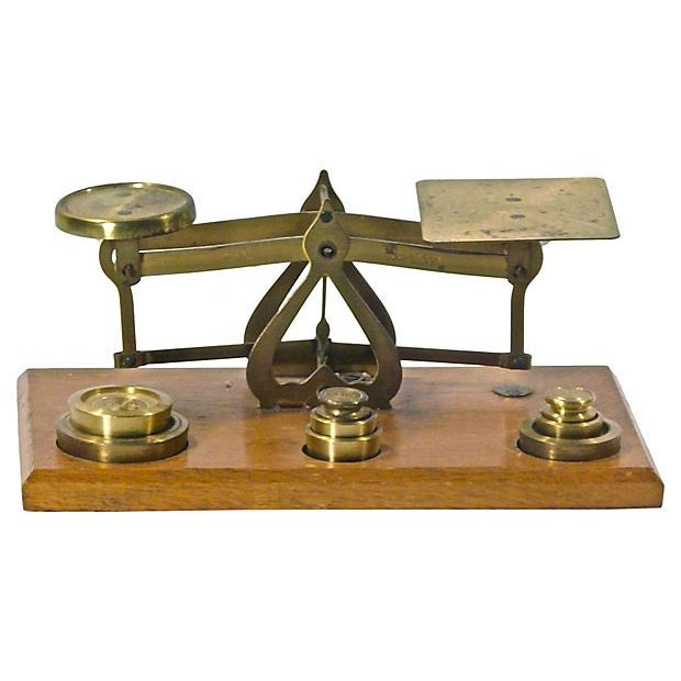 Antique Brass Scale - Image 1 of 2