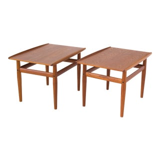 Pair of Teak Side Tables by Grete Jalk for Glostrup