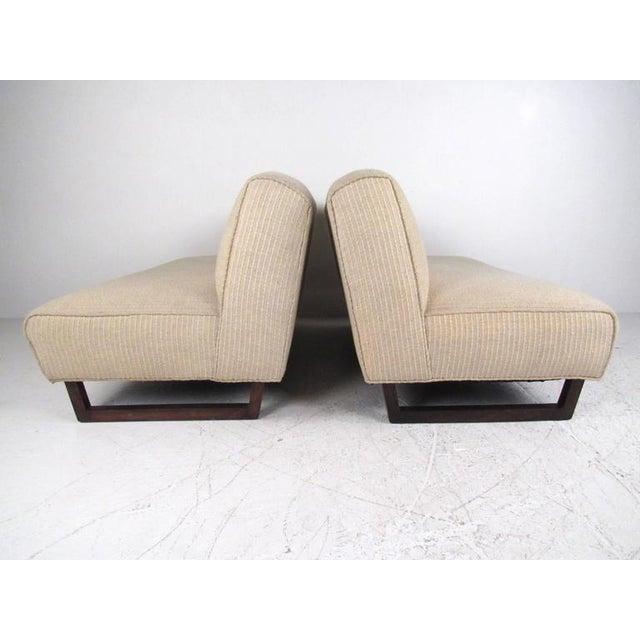 Vintage Modern Sled Leg Slipper Sofas - A Pair - Image 4 of 10