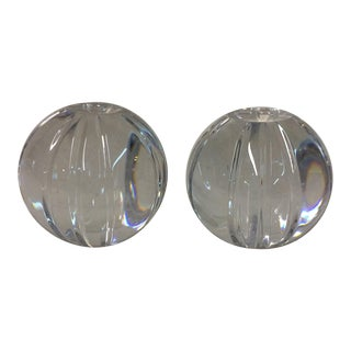 Lead Crystal Paperweights - set of two
