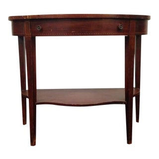 Traditional Carved Mahogany Single Drawer Console Table