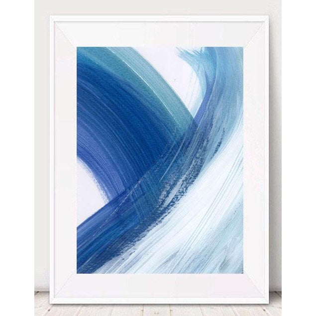 """Original """"Enjoy the Ride"""" Modern Abstract Minimalist Matted Acrylic Painting - Image 3 of 4"""