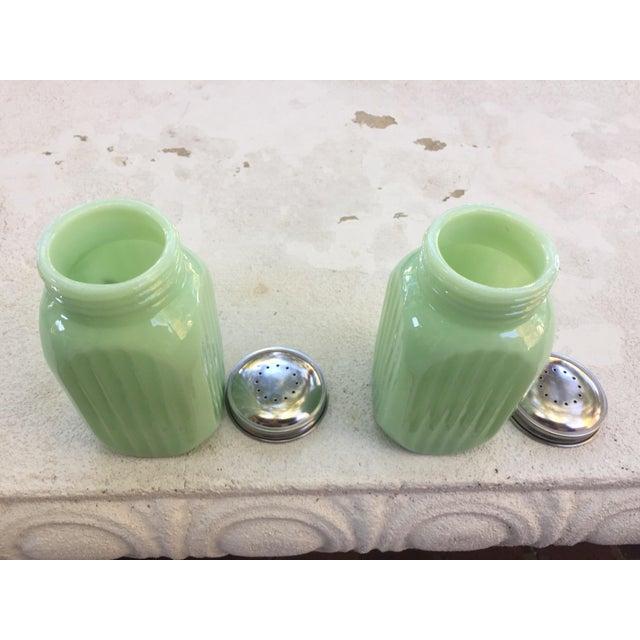 Art Deco Jadeite Salt and Pepper Shaker Set - Image 7 of 10
