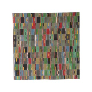 Woven African Fabric Collage Painting