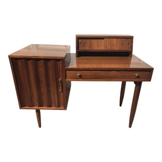 1960 Mid-Century Modern Walnut Desk