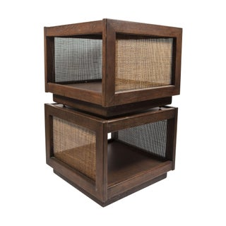 Cane Cube Side Tables