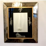 Image of Manner of Fornasetti Black and Antiqued Mirror