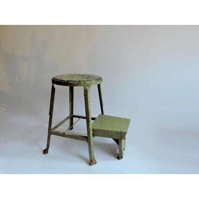 Industrial Sage Green Step Stool - Image 3 of 6