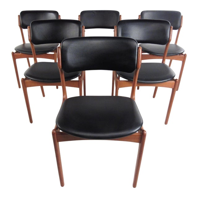 Vintage Erik Buch Scandinavian Modern Dining Chairs - Set of 6 - Image 1 of 11
