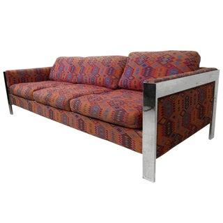 Selig Milo Baughman Style Mid-Century Sofa