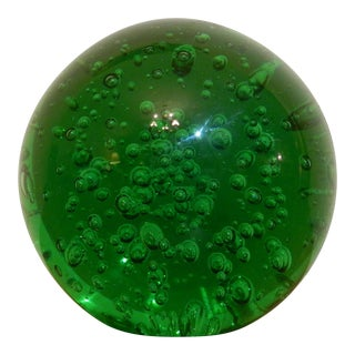 Green Oversized Bubble Glass Paper Weight