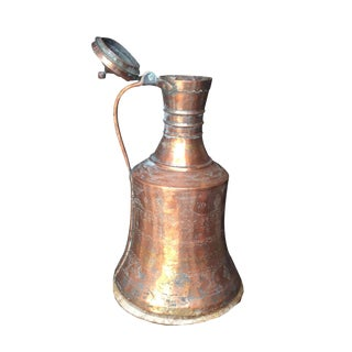 Copper Antique Jug With Lid