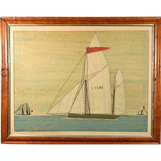"Sailor's Woolwork or Woolie of The Lowestoft Lugger, ""John Frederick"", Circa 1900."