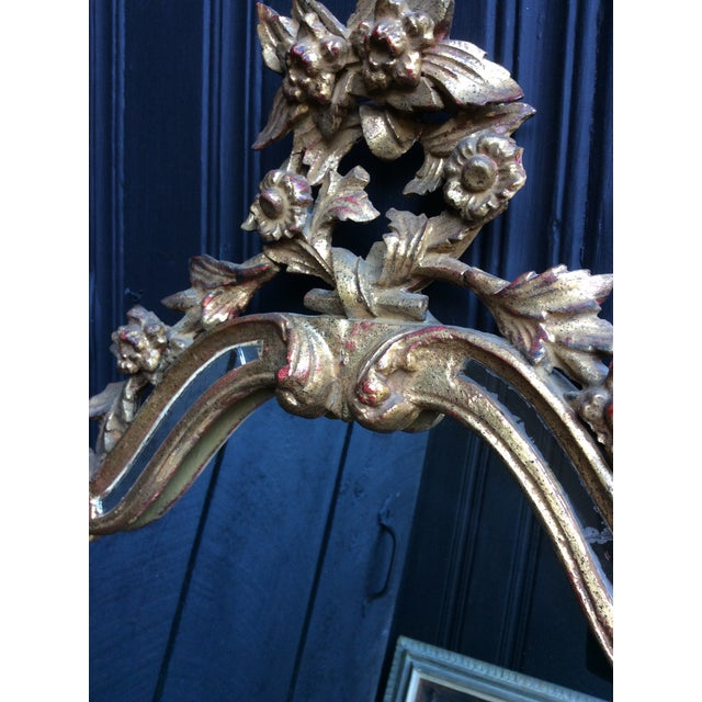 Antique Italian Gilt Carved Gold Mirror - Image 3 of 11