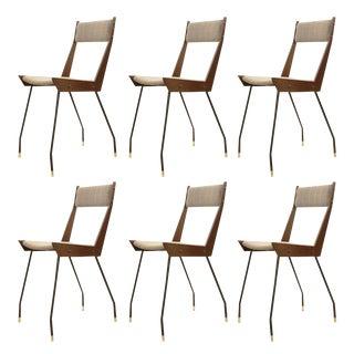 Set of Six Sleek Chairs