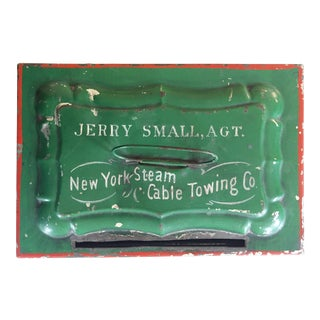 New York Antique Tin Cash Box