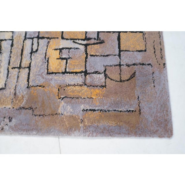 "Image of Piet Mondrian ""Composition in Gray and Yellow"" Rug"