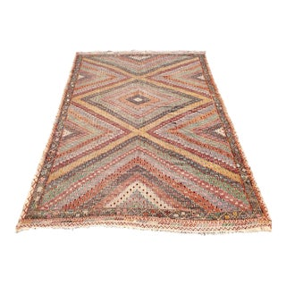 Vintage Turkish Kilim Rug - 5′12″ × 9′1″