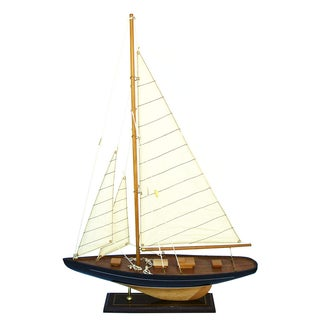 Handmade Wooden Sailboat Model