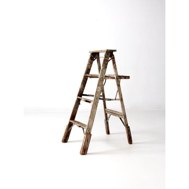 Vintage Rustic Wooden Painter's Ladder - Image 4 of 11