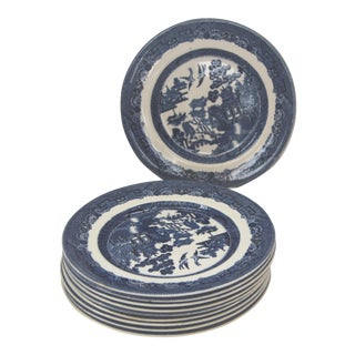 Blue Willow Johnson Brothers Salad Transfer Ware Plates - Set of 10
