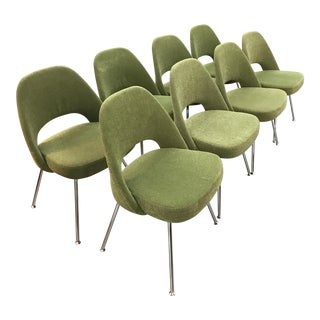 Saarinen Executive Side Chair with Metal Legs - Set of Eight - Like New