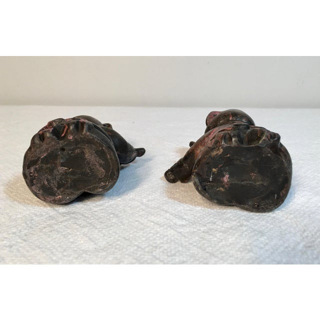 Antique Lead Pig Musician Toys - A Pair - Image 2 of 5