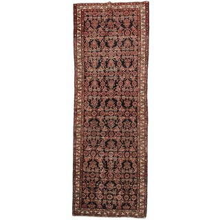 "Antique Wool Persian Malayer Runner - 3'3"" X 9'9"""