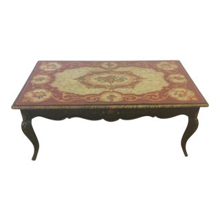 Maitland-Smith Coffee Table Hand Painted by Artist Margaret Agner