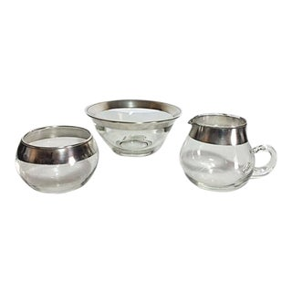 Dorothy Thorpe Sugar & Creamer and Serving Dish - 3 Pieces