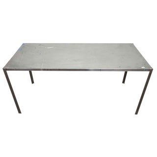 Long Narrow Aluminum Table