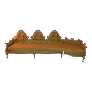 Gorgeous Victorian Curved Sofa