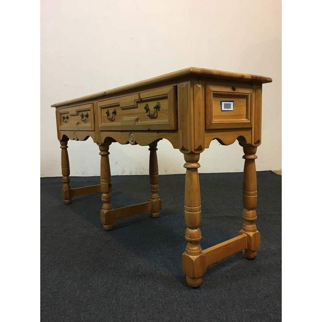 French Style Oak Coffee Table: French Provincial Style Carved Oak Console Table