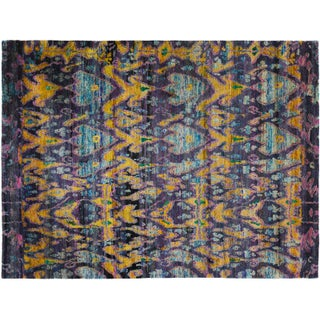 Midnight Sari Silk Rug - 7′11″ × 10′6″