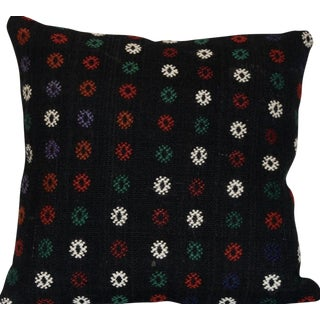 Vintage Handmade Wool Boho Turkish Kilim Pillow