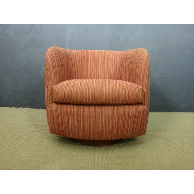 Image of Milo Baughman Mid Century Swivel Club Chair