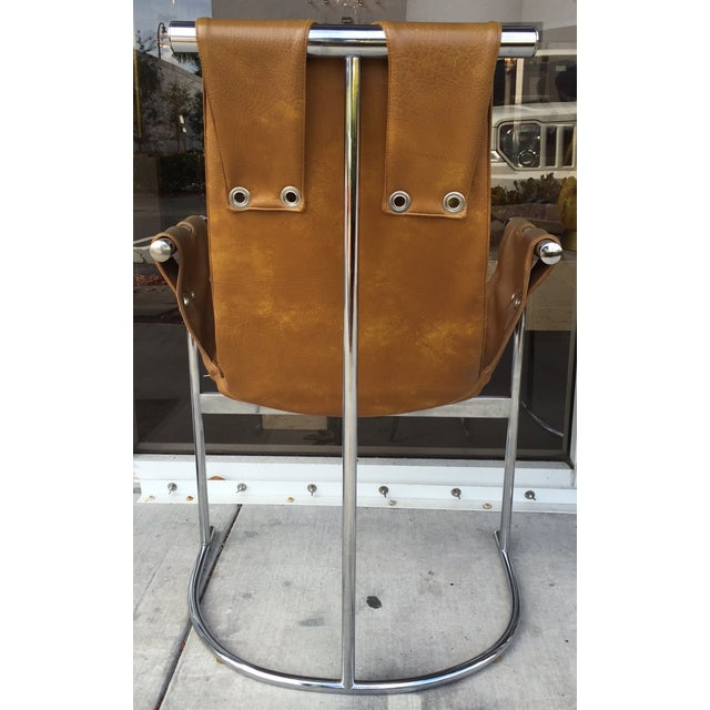 1970's Chrome and Faux Leather Chairs- Set of Four - Image 3 of 7