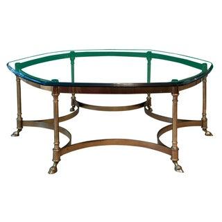 Vintage Regency La Barge Brass Coffee Table