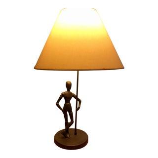 Pottery Barn Artist's Figure Model Table Lamp