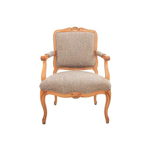 Louis XV-Style Granite Fauteuil - Image 1 of 7
