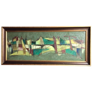 Mid-Century Modern Abstract Painting by Snowden