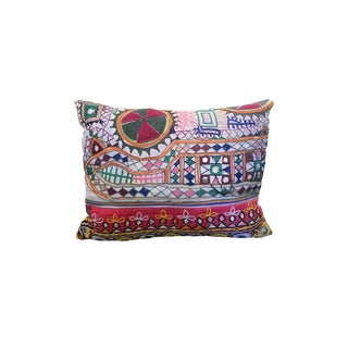 Vintage Boho Embroidered Pillow