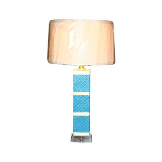 Contemporary Turquoise & Gold Accent Lamp